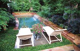 Backyard Pool Ideas by Chairs Surrounded By Ground Cover Wondering About This If We