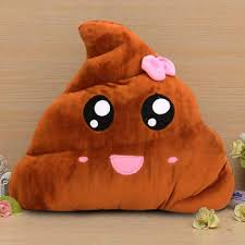 Toy Chair Funny Emoji Poo Shape Bowknot Stuffed Throw Pillow Bed Sofa Chair