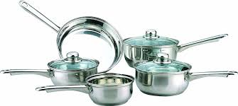 kitchen essential sabichi 5 piece stainless steel essential tapered pan set amazon