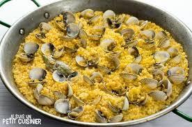 comment cuisiner des coques recette de paella aux coques