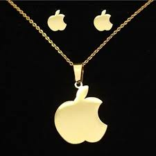 aliexpress buy new arrival 18k real gold plated aliexpress buy new arrival 18k gold plated apple necklace
