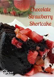 chocolate strawberry shortcake with driscollsberries juggling