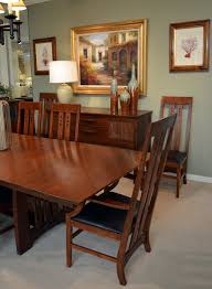 mission style dining room contemporary with chairs transitional