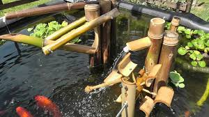 bird scarer shishi odoshi fountain made of bamboo using my