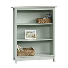 White Cottage Bookcase by Sauder Cottage 3 Shelf Bookcase Rainwater Soft Green By Office