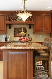 pictures of kitchens traditional medium wood cherry color