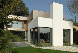 Home Design Exterior Walls Architecture Minimalist House Exterior Design With Grey And White