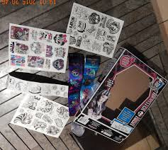 monster high diy tattoo box set stickers 105pc birthday party
