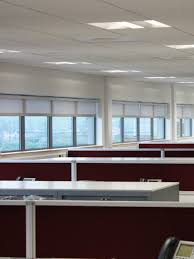 roller blinds in screen fabric colour grey and farbic wrapped bottom bar jpg