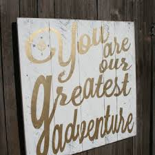 wood compass wall you are our greatest adventure nursery from rusticlyinspired on