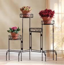 metal plant holder multi level planter shelf extendable stand