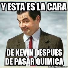 Memes De Kevin - meme mr bean y esta es la cara de kevin despues de pasar quimica