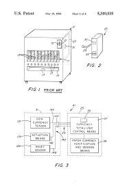 patent us5310035 paper and coin currency totalizer for an
