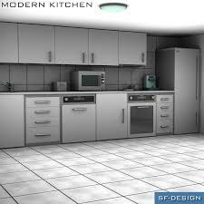 Kitchen 3d Design Modern Kitchen 3d Models Sf Design