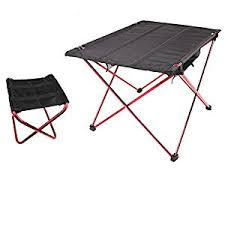 Small Portable Folding Table Amazon Com Small Camping Fold Table Chairs Set Portable Compact