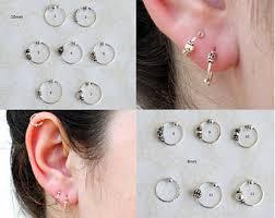 top earings ear piercing etsy