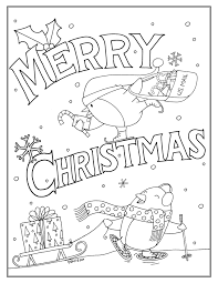 christmas coloring page download draw with rich