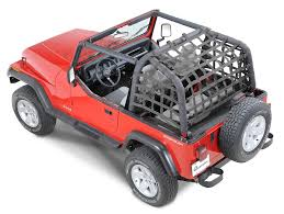 pink jeep liberty dirtydog 4x4 rear netting for 92 95 jeep wrangler yj quadratec