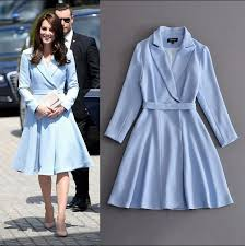 kate middleton dresses sky blue kate middleton dress tunic belt big swing party