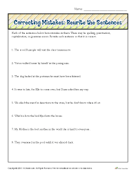 correcting mistakes rewrite the sentences proofing and editing