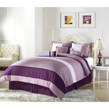 Bedroom Design Purple And Cream Purple Bed On The Wooden Floor With Grey Carpet And White