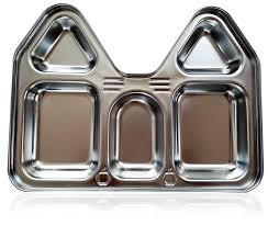amazon com stainless steel section plate castle house shape