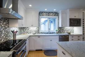 granite countertop cream shaker kitchen doors stacked stone