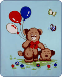 teddy balloons teddy s n balloons acrylic mink baby blanket