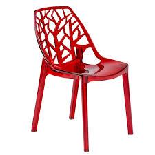 Dining Chair Deals Modern Flora Cut Out Transparent Plastic Dining Chair
