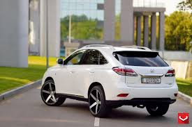 lexus rx white vossen wheels lexus rx vossen cv3r