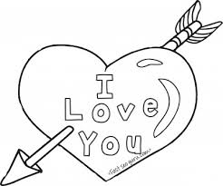 printable valentines hearts arrow coloring pages