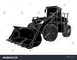 big bulldozer loader vector isolated on stock vector 217424254