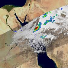 The Red Sea Map Severe Storm Over The Red Sea Natural Hazards