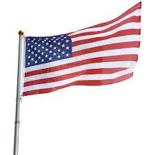 Rv Flag Pole Mount Usa 25 Ft Telescopic Aluminum Flagpole Flag Ball Pole Top Kit Fly