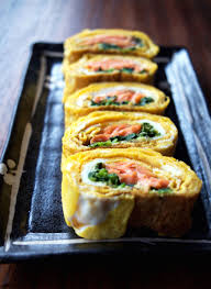 salm cuisine smoked salmon and spinach filled tamagoyaki one of my favorite
