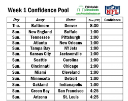 Pick Sheets 11 Best Photos Of Nfl Pool Sheets Printable Game Nfl Football