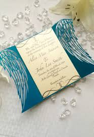 gatefold wedding invitations angel wings gate invitation shimmering ceremony