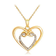 love crystal necklace images Qcooljly classic style heart and soul women necklace love crystal jpg