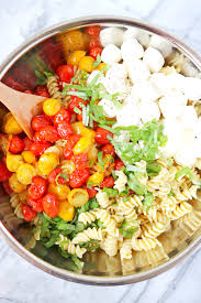 caprese pasta salad with roasted cherry tomatoes clean eats u0026 treats
