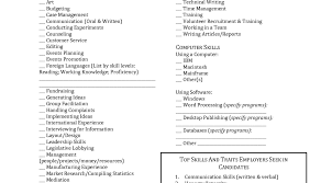 list of resume skills skills to put in a resume resume awesome resume skills list