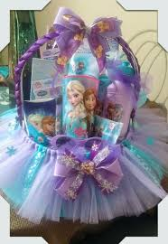 Easter Basket Decorating Ideas Pinterest by Frozen Gift Basket Made By Norma U0027s Unique Gift Baskets