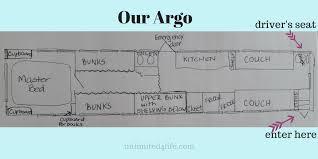 Skoolie Floor Plan Our Argo Bus Conversion Floor Plan Unlimited4life