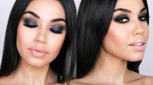 make up tips for salt and pepper hair gray black smokey eye holiday smokey eye makeup tutorial eman