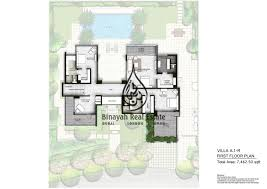 the nest villas 4 bedroom type a1 r ground floor plan