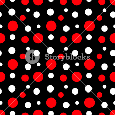 pattern white red polka dots black minnie mouse paper