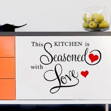 discountfan new this kitchen is seasoned with love quote wall discountfan new this kitchen is seasoned with love quote wall sticker removable vinyl home decor art decals amazon co uk kitchen home