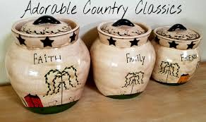 28 primitive kitchen canisters adorable country classics