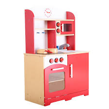 Red Kitchen Set - kids cooking pretend play toy kitchen set toy kitchens u0026 play