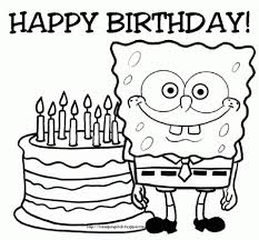 coloring pages happy birthday get this happy birthday cake and party coloring pages 04618