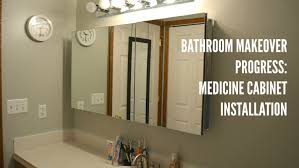 Bathroom Cabinets New Recessed Medicine Cabinets With Lights Bathroom Update Medicine Cabinet Installation Youtube